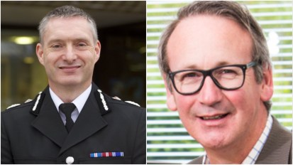 (L-R) Lincolnshire Police Chief Constable Bill Skelly and Andrew White