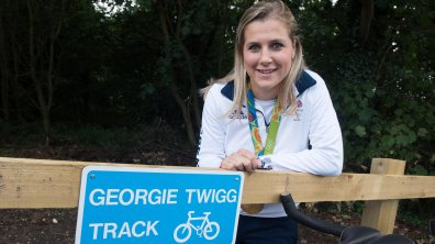 The new route is entitled the Georgie Twigg Track. Photo: Steve Smailes for The Lincolnite