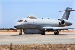 A Sentinel R1 from 5(AC) Squadron Royal Air Force operating from RAF Station Akrotiri in Cyprus on Operation Shader, the Counter-Daesh mission. Photo: Cpl Graham Taylor/RAF