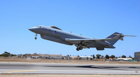 A Sentinel R1 aircraft of the Royal Air Force operating from RAF Station Akrotiri in Cyprus on Operation Shader, the Counter-Daesh mission. Photo: Cpl Graham Taylor RAF