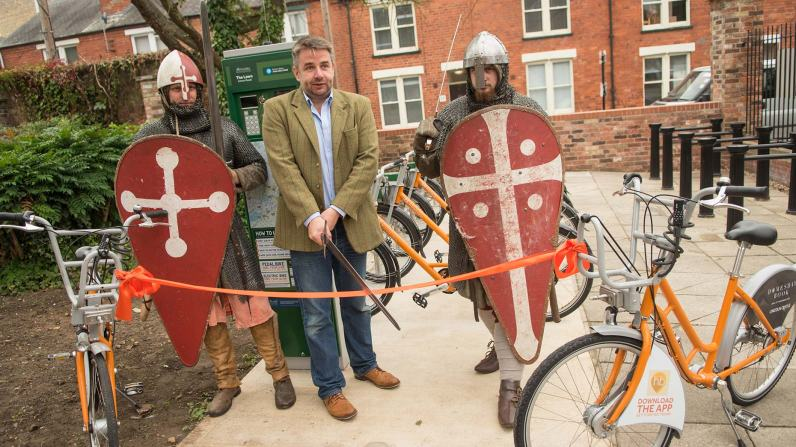 Councillor Richard Davies had the honour of cutting the ribbon. (Apparently there were no scissors available!)