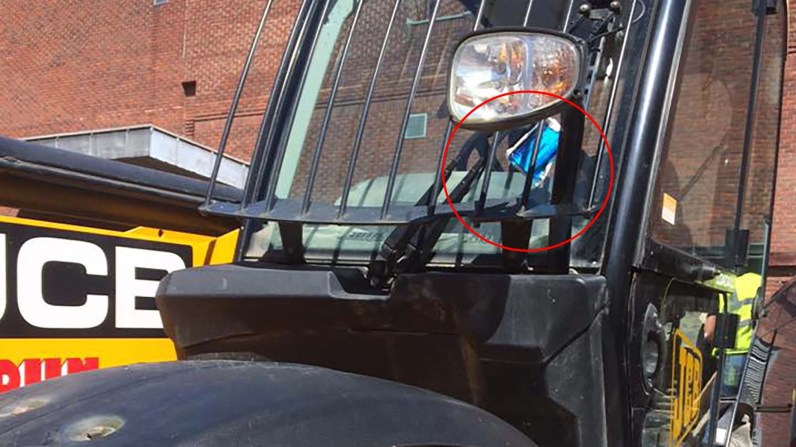Do you think the JCB should have got a ticket?