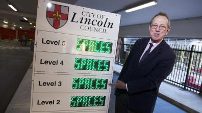 City of Lincoln Council Leader Ric Metcalfe at the Lincoln Central car park. Photo: Steve Smailes for The Lincolnite