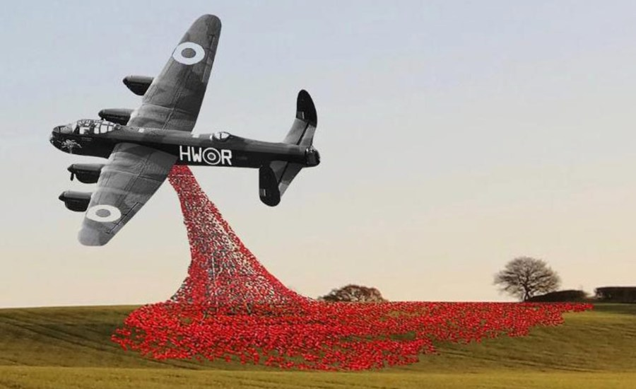 Lancaster Bomber Sculpture Next To A46 Recommended For