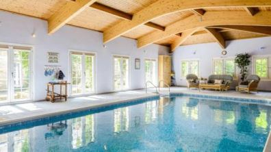Indoor swimming pool at the Dunston home. Photo: Savills
