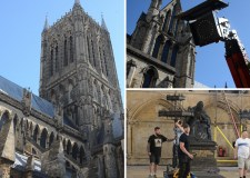 Lincoln Cathedral gets ready for The King film