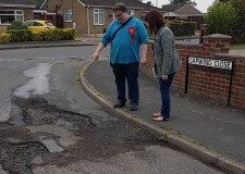 Lincoln MP goads council over 'crater pothole'