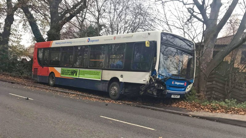 Car Driver Seriously Injured In Lincoln Crash With Bus