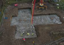 Video: Foundations poured for A46 Lancaster Bomber sculpture