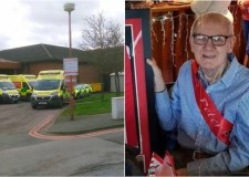 "Ambulance queues ""a disgrace"" as man, 90, waits hours at hospital doors"