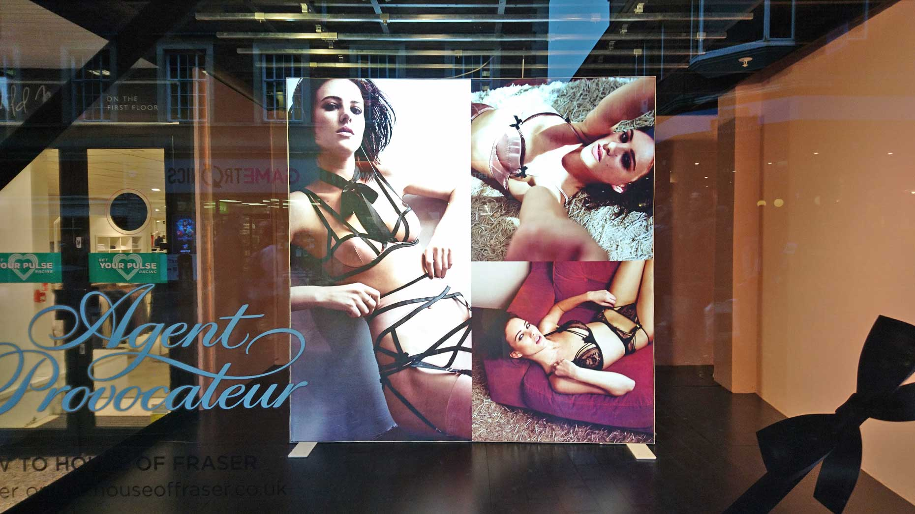 a5ee448a7c Lincoln House of Fraser display branded  degrading  and  pornographic