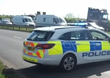 Woman hospitalised in rush hour A46 crash