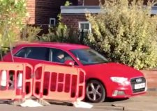 Audi caught making pavement dash to avoid road block