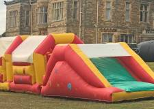 Inflatable assault course at St Marks charity fun day this weekend