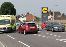 Travel chaos on Newark Road after smash