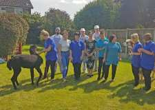Alpacas visit residents at Lincoln care home
