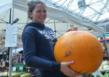 Guess the weight of this giant pumpkin for charity
