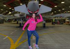 Lincoln mum battles through pain barrier for RAF charity