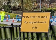 NHS staff COVID-19 testing station set up at Lincoln leisure centre
