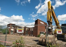 Diggers demolish Hykeham factory destroyed by fire