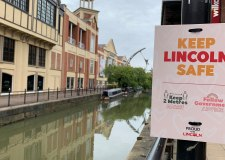 Keep your distance, Lincoln council urges with street messages