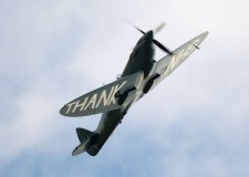 Spitfire flies over Lincolnshire hospitals with 'thank you NHS' message