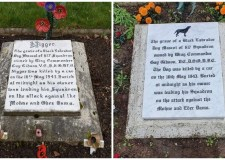 RAF Scampton replace dog's gravestone due to offensive name