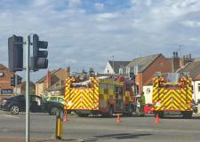 Carholme Road junction blocked after crash