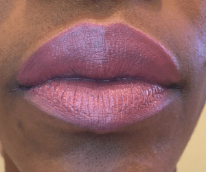 Pretty in Pink lip swatch