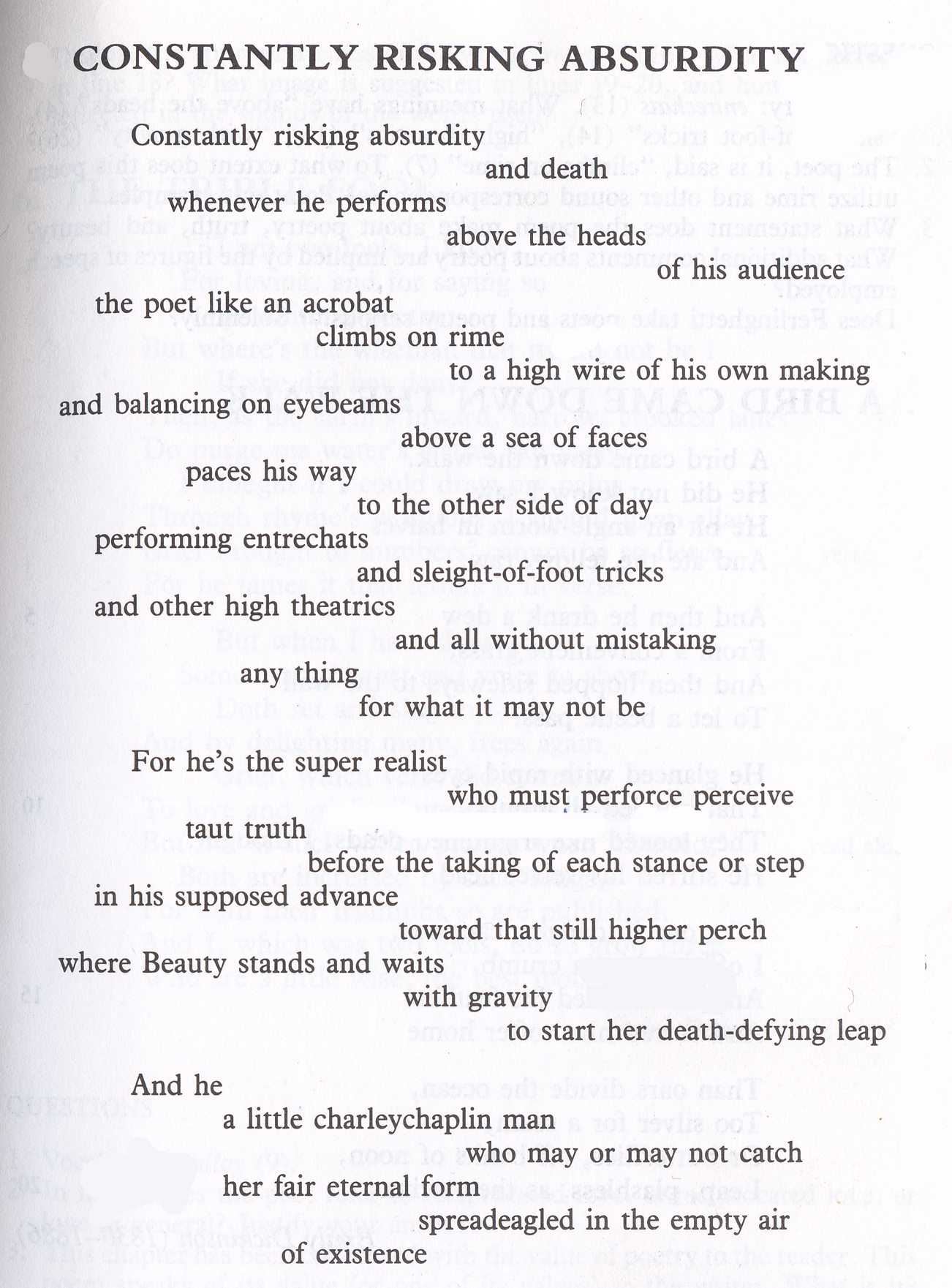 Lineation An Introduction To The Poetic Line