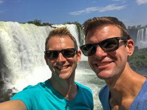 Iguazu Falls selfie from Brazil.