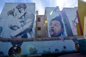 Large street art in Buenos Aires, Argentina.