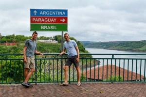 Scott Swiontek at John Line at Tres Frontiers at Iguazu Falls, Brazil.
