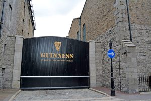 The St. James Gate at the Guinness Brewery in Dublin, Ireland.