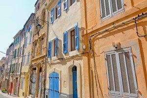 A street in the neighborhood Le Panier, Marseille, France.