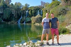 John Line and Scott Swiontek at Kravica Falls, Bosnia & Herzegovina.