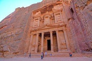 The Petra Treasury from below, Jordan.