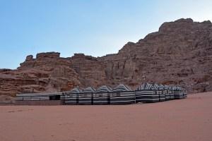 The Bedouin Camp in the Wadi Rum Desert, Jordan.