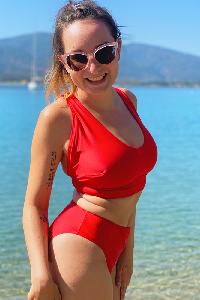 reign swim ashley bikini red size small review