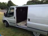 Old van open sliding door