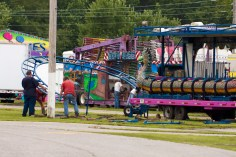 A children's rollercoaster