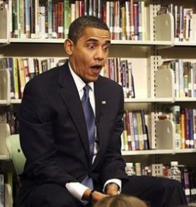 The President reacts to viewing TV news channels