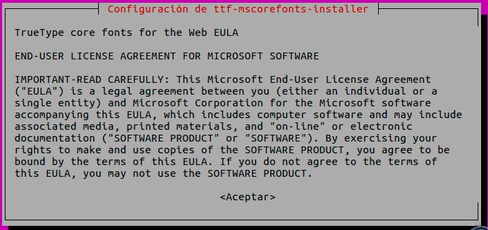Install Microsoft Windows Fonts in Ubuntu 16 04/18 04