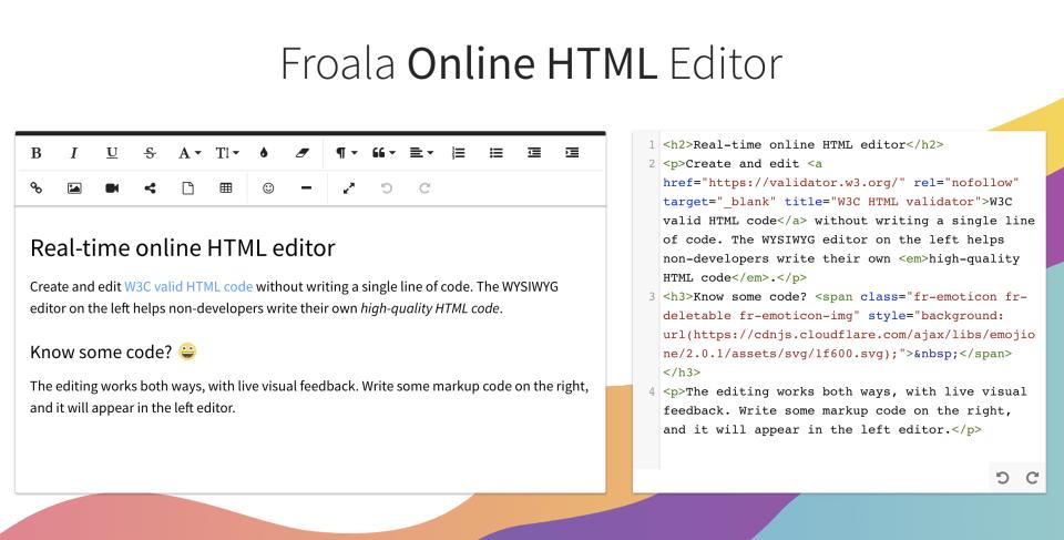 froala editor