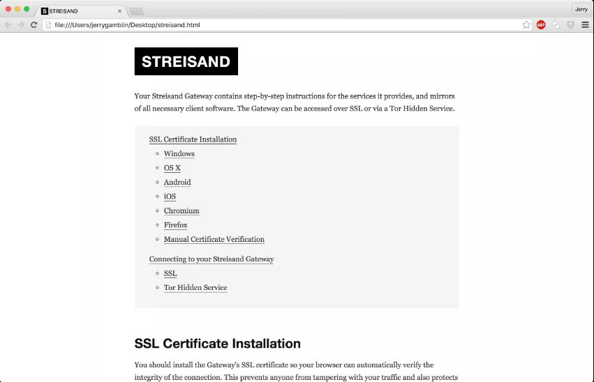 streisand open source vpn