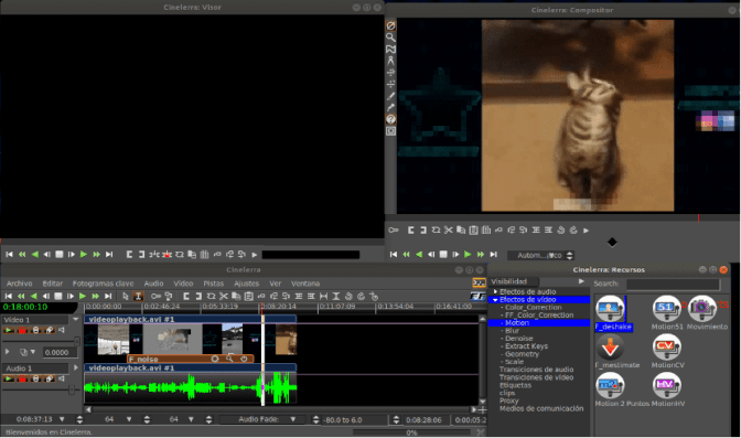 cinelerra free open source video editing software