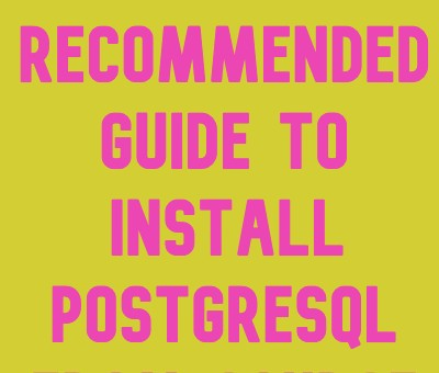 install postgresql from source