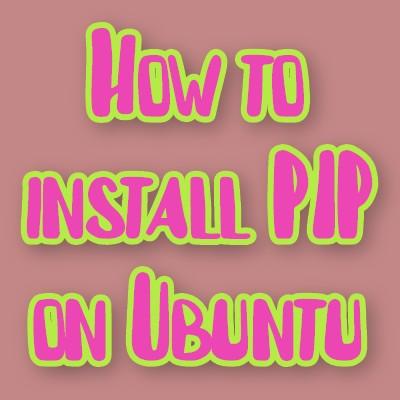 install pip on ubuntu