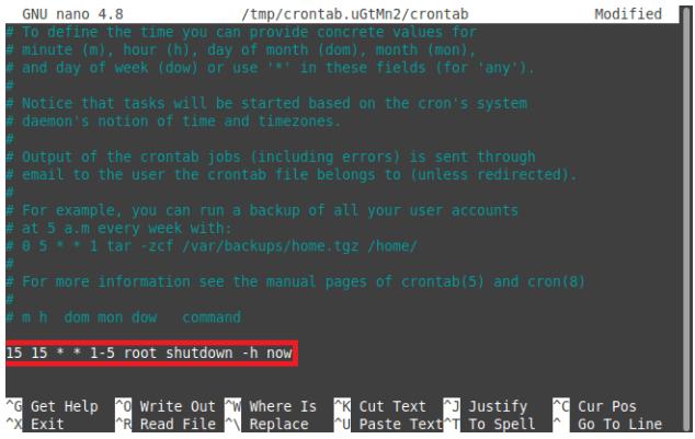 Schedule a Shutdown in Linux