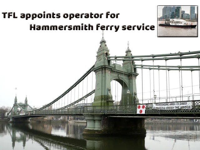 TFL appoints operator to run Hammersmith Ferry service